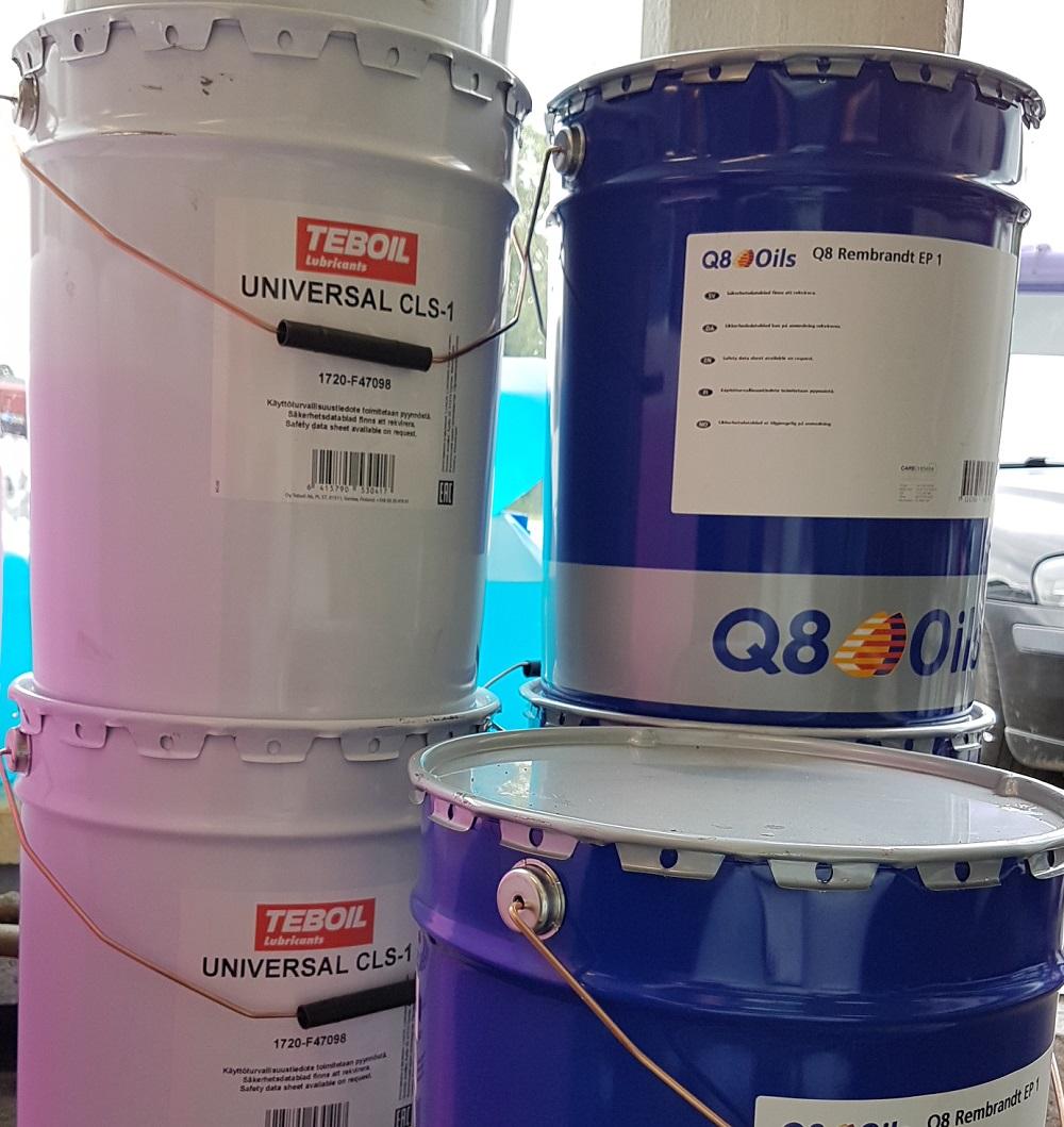 Q8 ja Teboil öljyt
